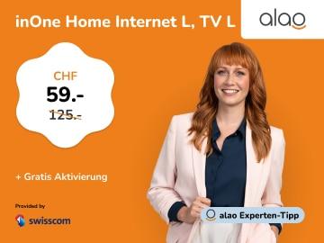 alao Aktion: Swisscom inOne Home Internet L & TV L um nur CHF CHF 59.-