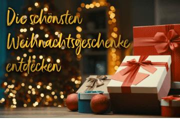 Die schönsten Weihnachtsgeschenke mit bis zu 40 % Rabatt bei Geschenkidee