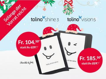 Orell Füssli Gutscheincode: E-Reader tolino Shine 3 & Vision 5 um nur CHF 105,-