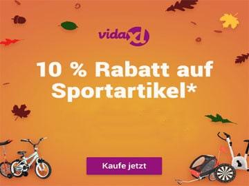 vidaXL Gutscheincode: 10 % Rabatt auf Sportartikel sichern